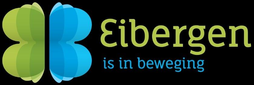 <p>Het nieuwe logo: Eibergen is in beweging. Foto: PR</p>
