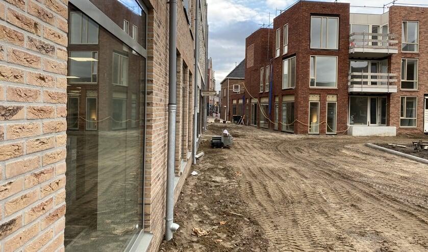 Een kijkje richting Markt, gezien vanaf de kant van de Aldi. Links de nieuwe Bibliotheek. Foto: PR
