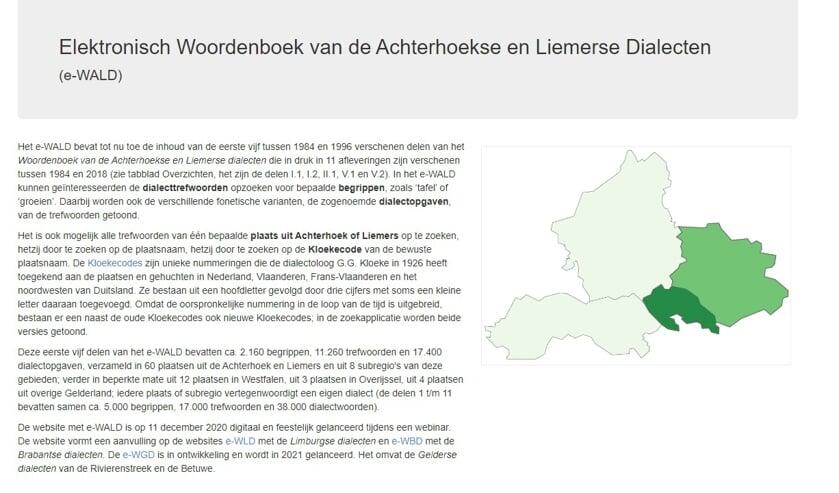 <p>Een beeld van de website e-wald.nl.&nbsp;</p>