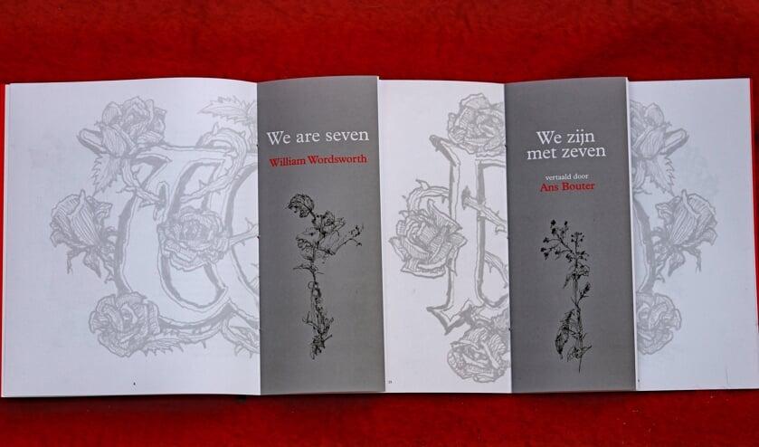 <p>De Engelse versie en de Nederlandse vertaling van het gedicht. Foto: Sander Grootendorst</p>