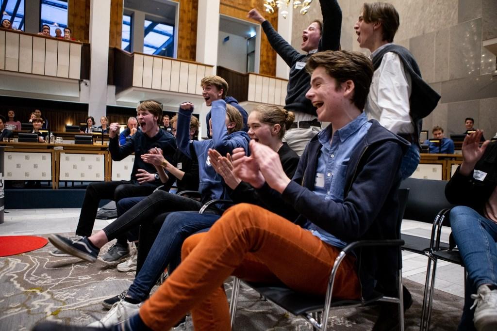 Ontlading na debatsucces. Foto: PR  © Achterhoek Nieuws b.v.