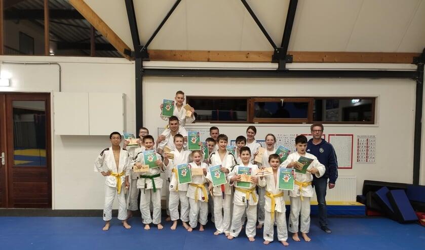 Diploma's voor de judoka's. Foto: PR