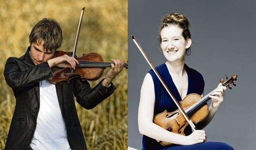 Topviolisten Mathieu van Bellen en Maria Milstein. Foto: PR