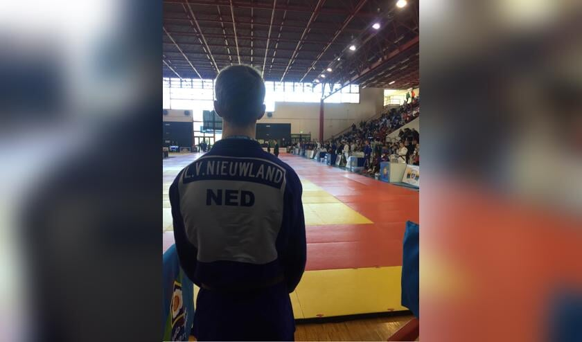 Luuk van Nieuwland, judoka van Nippon Judo Achterhoek debuteert op Europees judotournooi in Italië. Foto: PR