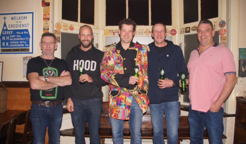 V.l.n.r.: Herbert Rutgers, Bram Klein Haneveld, Mathijs Ansems, Bert Berenpas en Gerrit Kastermans. Foto: Bernadet te Velthuis