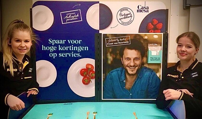 Bij Jumbo Hollak kunnen klanten sparen voor servies. Foto: PR