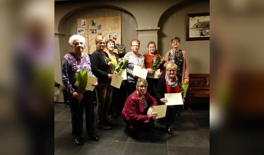 De jubilarissen van de Vrouwen van Nu Ruurlo. Foto: PR