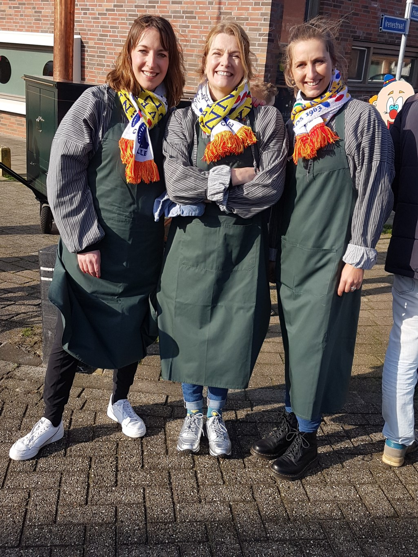 De drie huidige vrouwelijke CCG'ers: vlnr. Marlon te Veluwe, Anne Nales en Pien Konings. Foto: Mark Ebbers