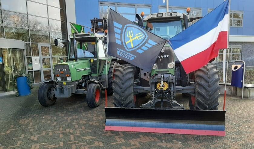 Tractoren voor het Staring College. Foto: Arjen Dieperink