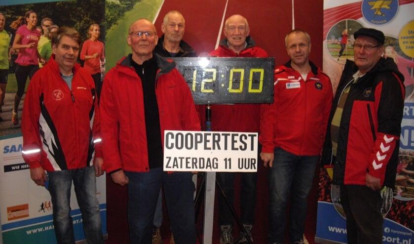 V.l.n.r.: Herman Terwel, Harry Post, Louis Kok, Dico Oprel, Eddy Groen en Gerrit Vos. Foto: PR