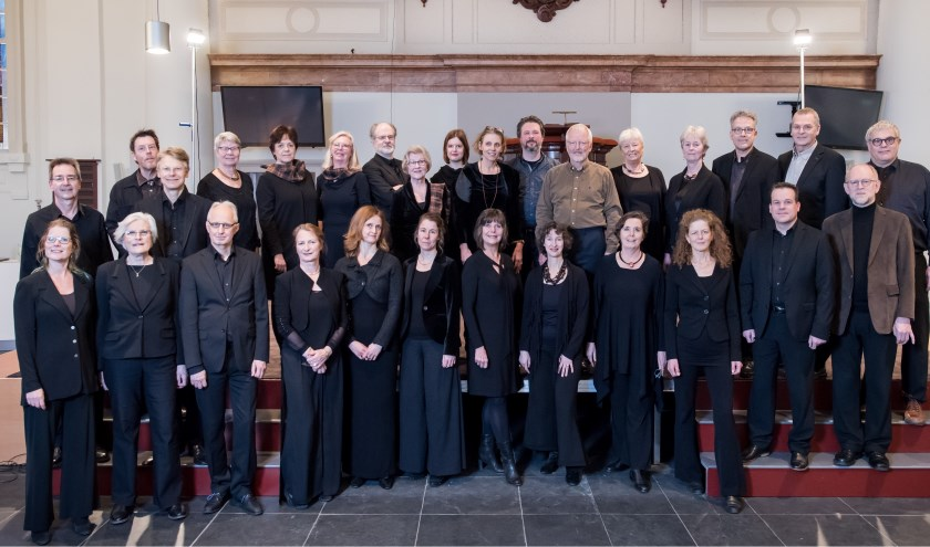 Cappella ad Fluvium uit Arnhem treedt op in Drempt. Foto: René Mathon Koele