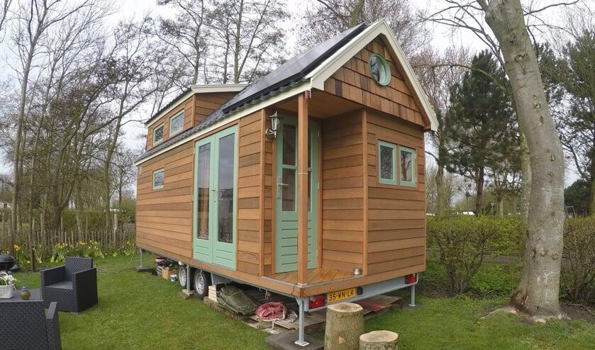 Een voorbeeld van een tiny house op wielen. Foto: PR