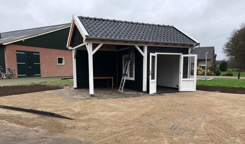 Het nieuwe eierverkoophuisje van Bas Bouwmeester. Foto: PR.