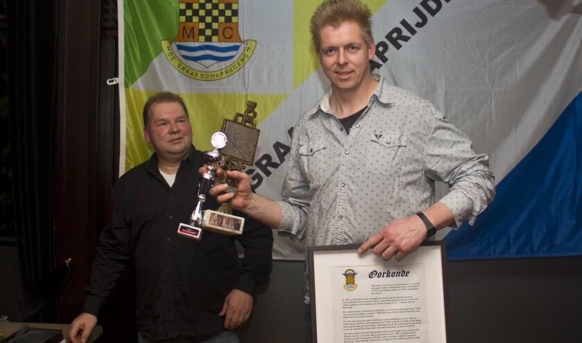 Stefan Goot Nuelend V.A.M.C. sportman van het jaar. Foto: V.A.M.C.