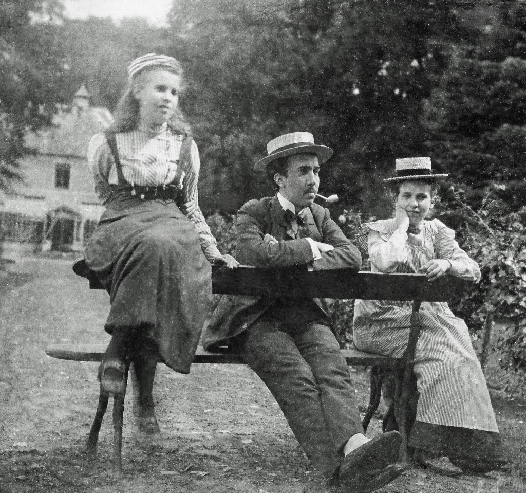 Familie Knake, Cor, Frits en Sina. Foto: Familiearchief Knake  © Achterhoek Nieuws b.v.