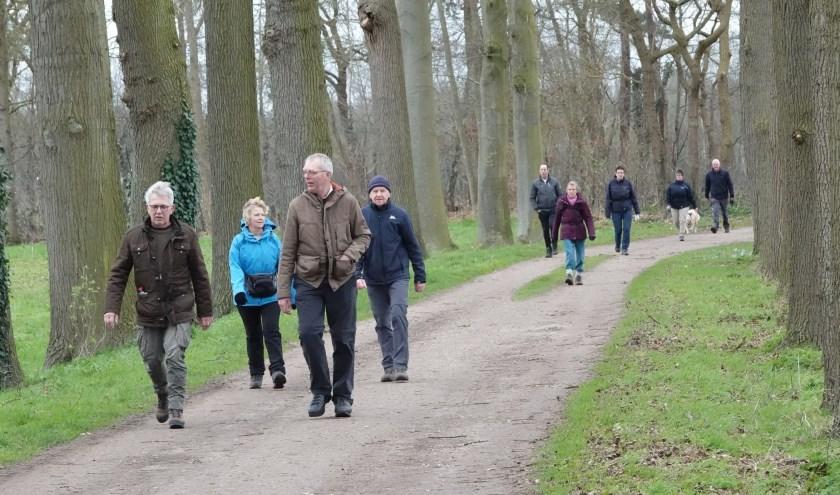 De weersomstandigheden voor de wandelaars waren af en toe wat 'winderig'. Foto: Achterhoekfoto.nl/Gradus Derksen