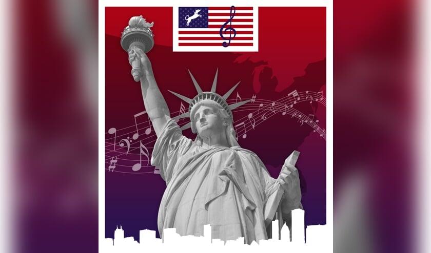 Tijdens het themaconcert op zaterdagavond 15 februari neemt Koninklijke Muziekvereniging Sophia's Lust uit Ruurlo de bezoekers onder het motto 'Sophia's Lust Great Again!' mee op een reis door Amerika.Foto: PR