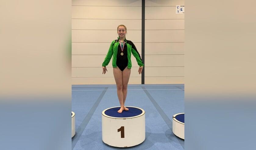 Marit Schutten, deze keer goed voor een gouden medaille.