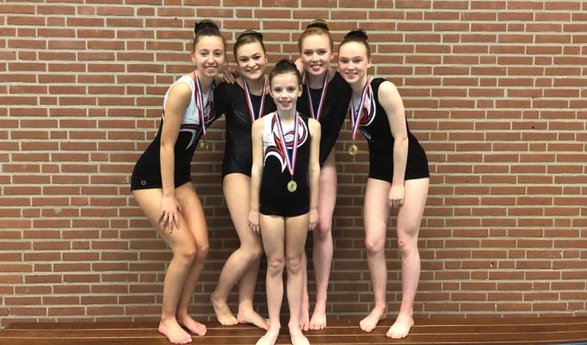 De succesvolle acrogymnasten van DIOS. Foto: PR