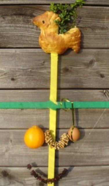 Een voorbeeld van een palmpasenstok. Foto: PR