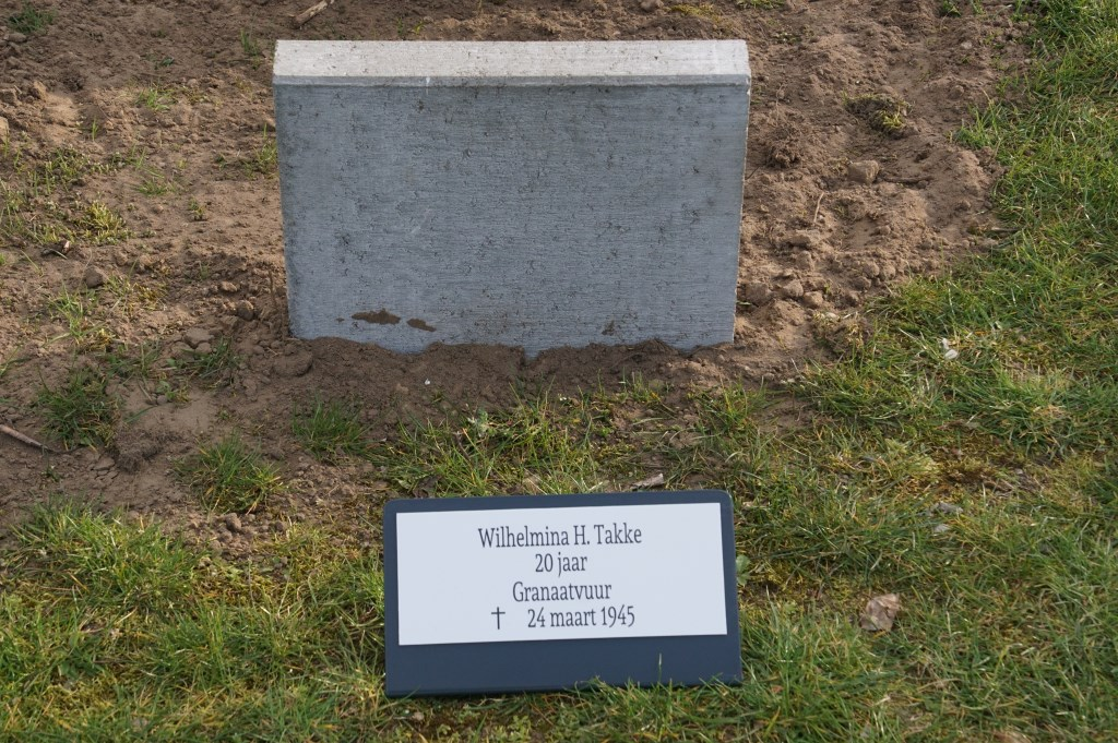 Wilhelmina H. Takke, 20, granaatvuur  © Achterhoek Nieuws b.v.