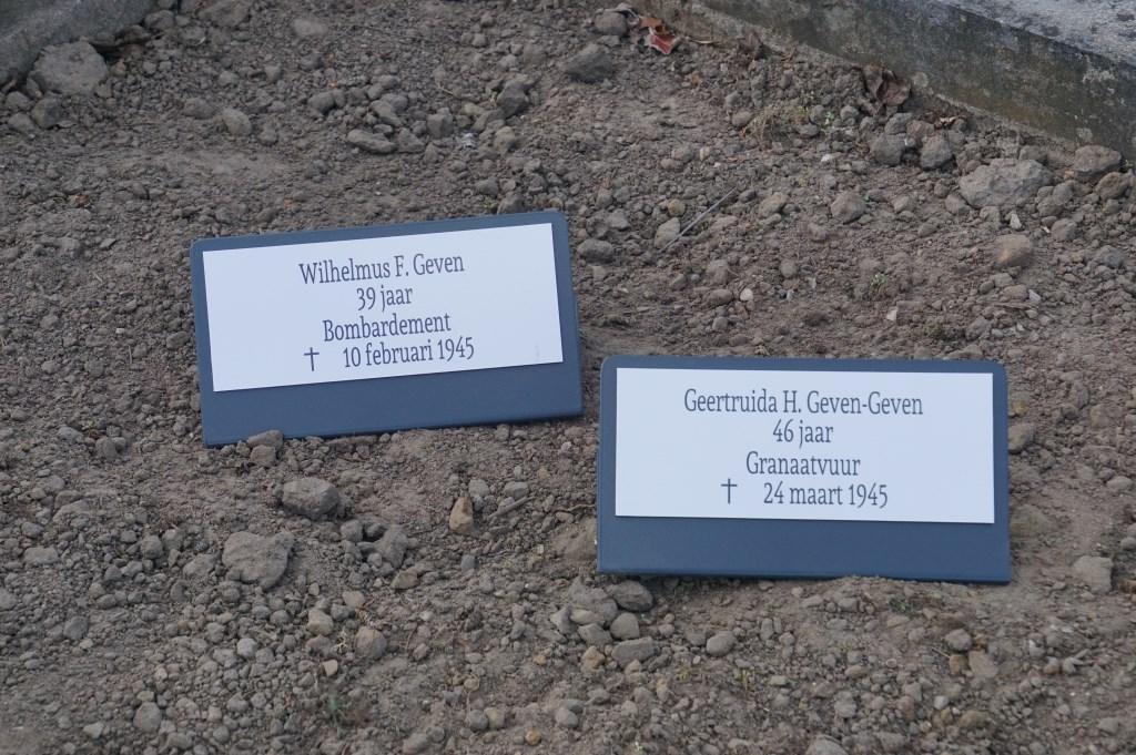 Wilhelmus F. Geven, 39, bombardement en Geertruida H. Geven-Geven, 46, granaatvuur  © Achterhoek Nieuws b.v.