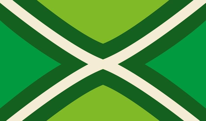 De Achterhoekse vlag zal voorafgaand aan elke thuiswedstrijd van De Graafschap mee het veld op gaan tijdens de vlaggenparade. Foto: PR