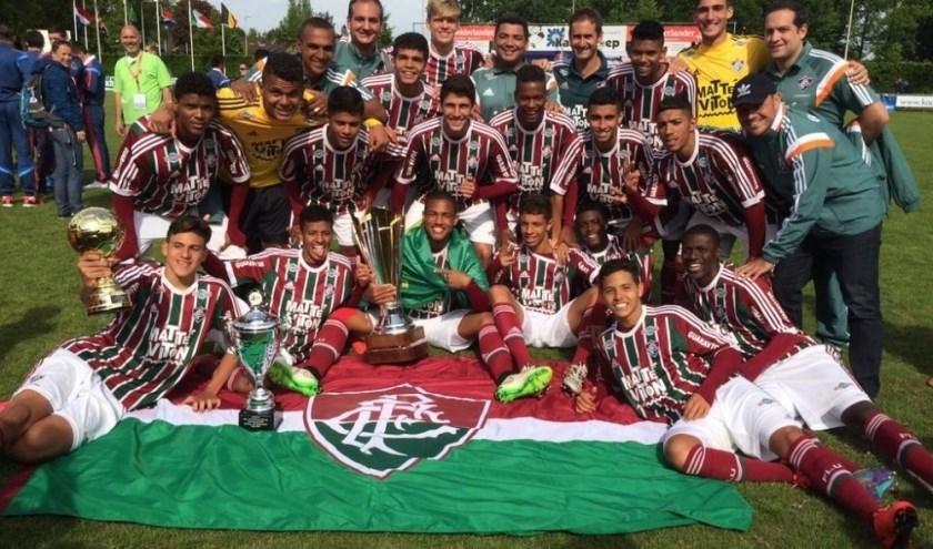 De jeugdvoetballers van het Braziliaanse Fluminense komen met de Pinksterdagen niet naar Ruurlo. Foto: PR.