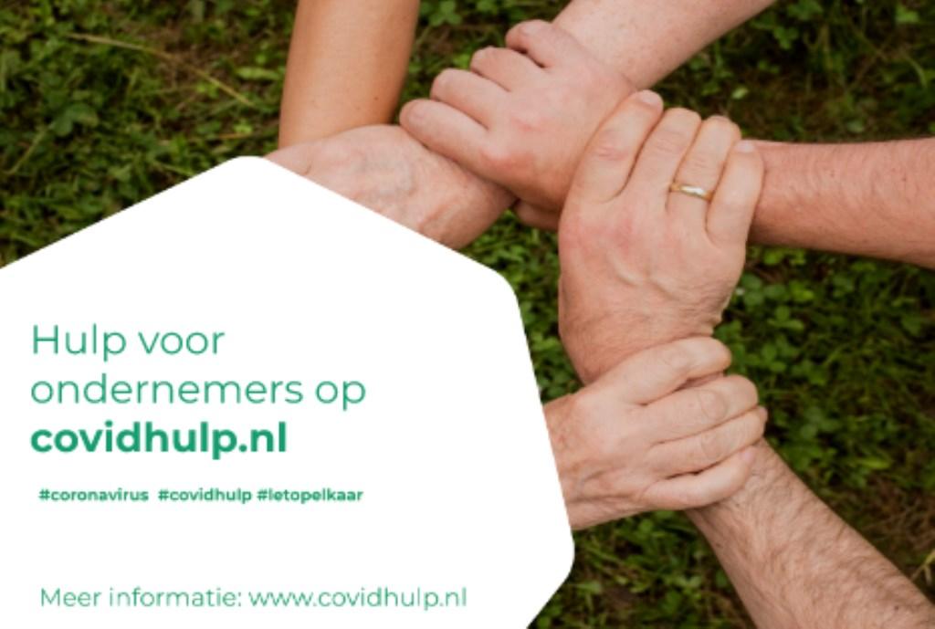 Het beeldmerk van Covidhulp.nl. Foto: PR  © Achterhoek Nieuws b.v.
