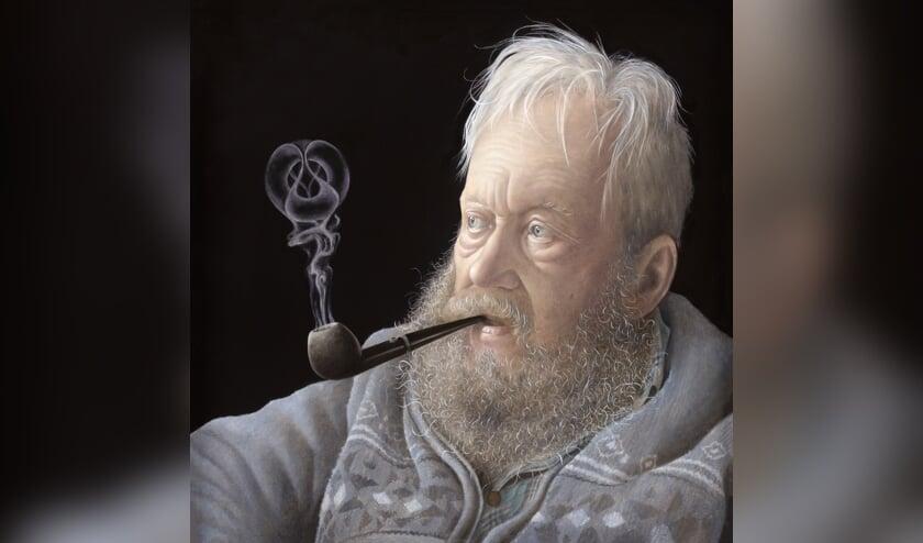 Het portret 'Opa' van schilderes Amy Verhoeff en tientallen andere portretten zijn nog te zien op www.goodlookingruurlo.nl. Foto: PR.