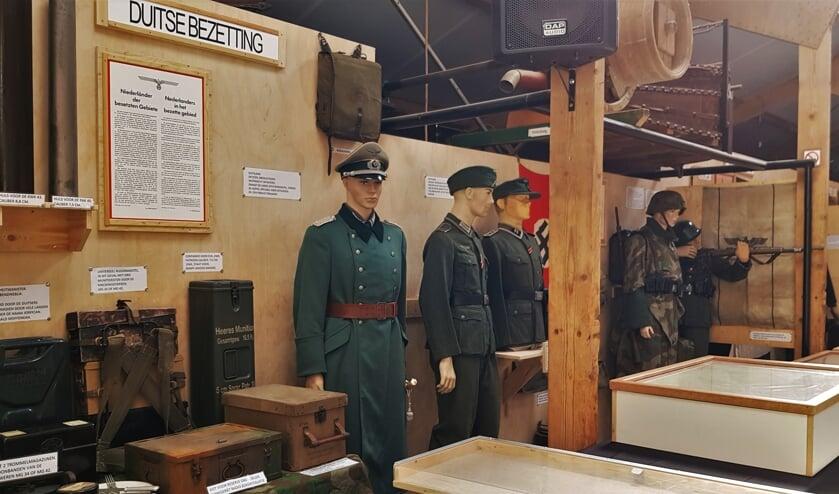 Een onderdeel van de expositie over Zelhem in de Tweede Wereldoorlog. Veel van wat er is te zien is ook echt uit of gebruikt in Zelhem tijdens de Tweede Wereldoorlog.Dat maakt deze expositie extra uniek. Foto: Alice Rouwhorst