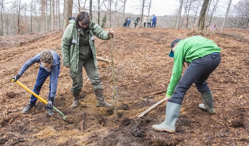 Vorig jaar werden er ook bomen door kinderen geplant. Foto: Eloy Millennia Gotjé.