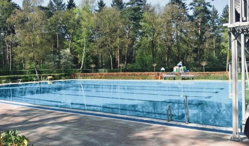 Het zwembad in het voorjaar van 2018. Foto: PR