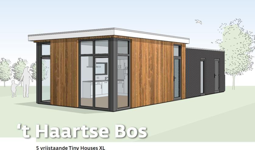 <p>Een voorbeeld van een &#39;tiny house&#39; of flexwoning. Foto: PR</p>