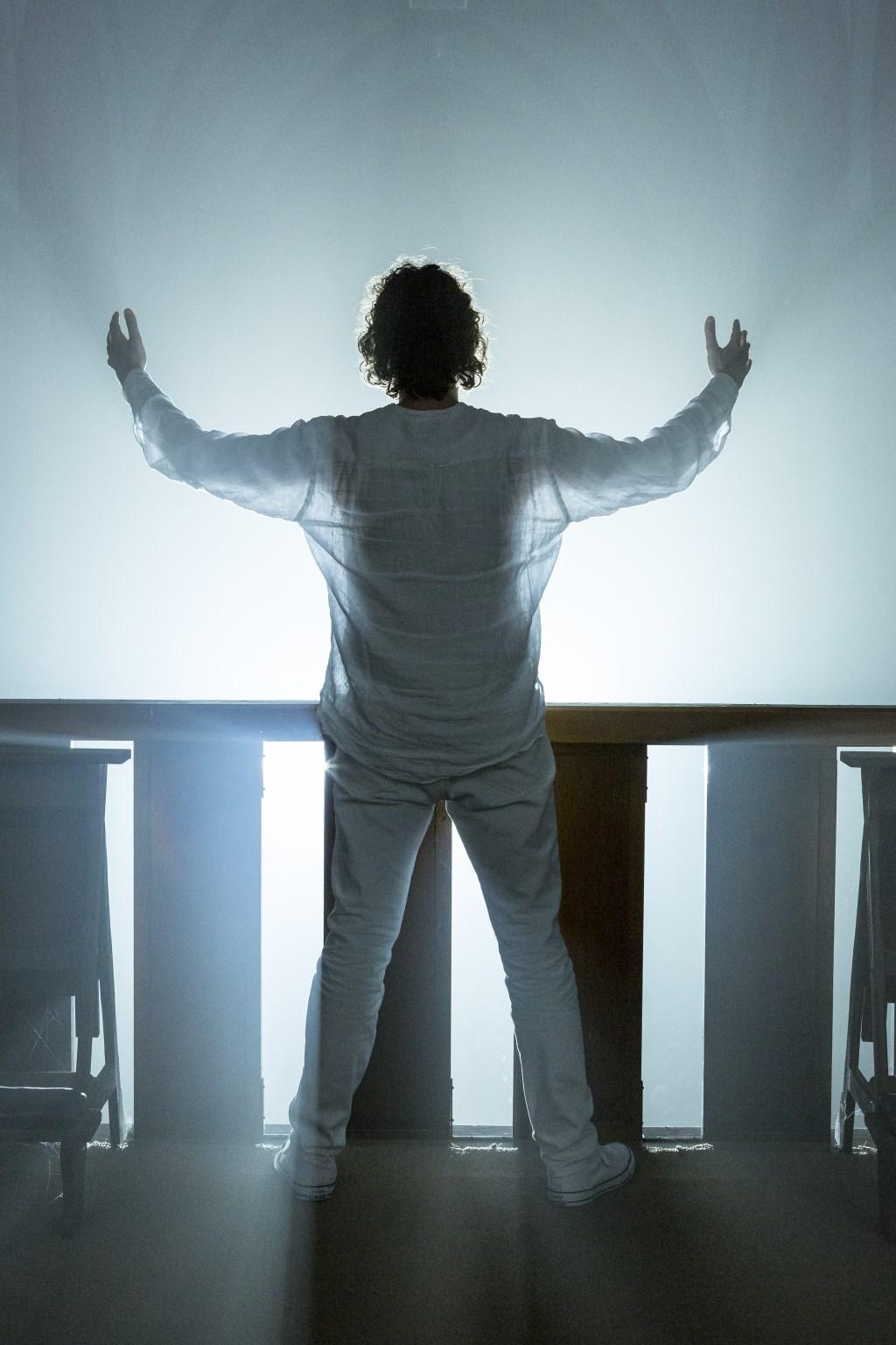 Hans Roerdinkholder als Jezus tijdens the Passion. Foto:Geert Leemkuil