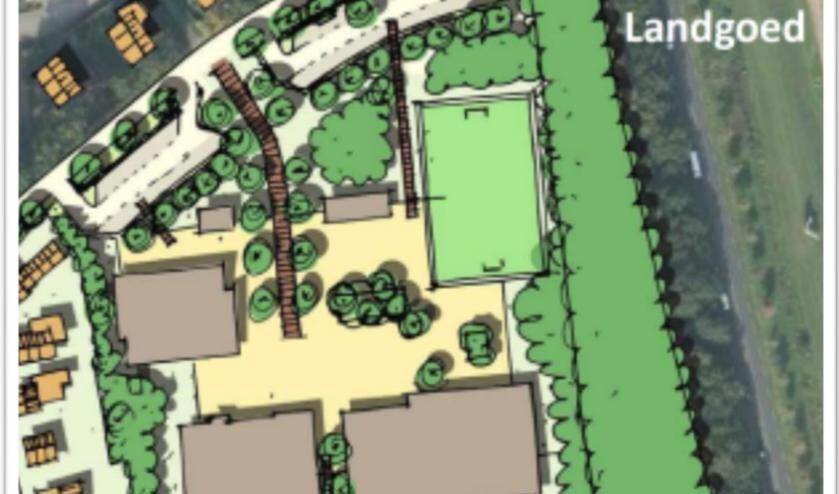 Qua inrichting gaat het nieuwe scholencomplex aan de Verwoldseweg in Laren er zo uitzien. Bron: gemeente Lochem