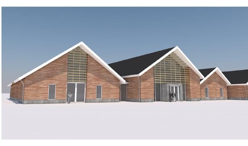 Een artist impression van het te bouwen crematorium in Etten. Afbeelding: PR