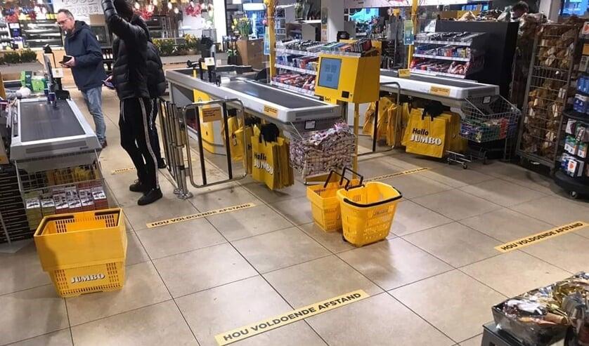 Voldoende afstand houden, dat wordt ook van de klanten gevraagd. Foto: PR