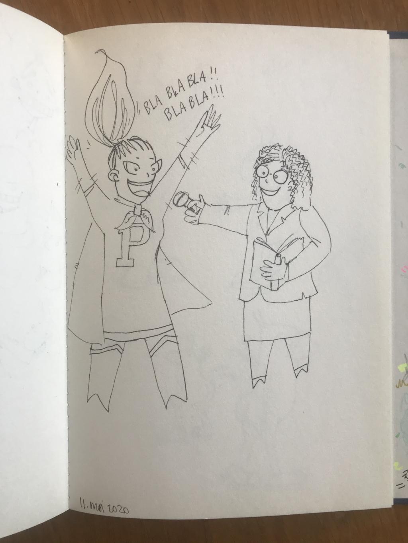 De superheld van Patricia wordt geïnterviewd. Zouden ze dan toch één en dezelfde persoon zijn? Barbara Pavinati © Achterhoek Nieuws b.v.