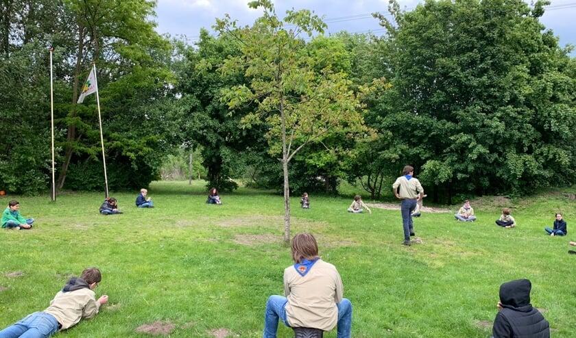 Lekker buiten bewegen, een van de gezonde activiteiten van Scouting Zona. Foto: PR