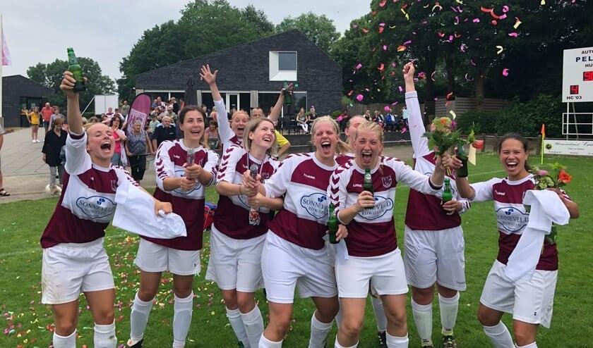 Het vrouwenteam van HC '03 werd recent kampioen. Foto: PR