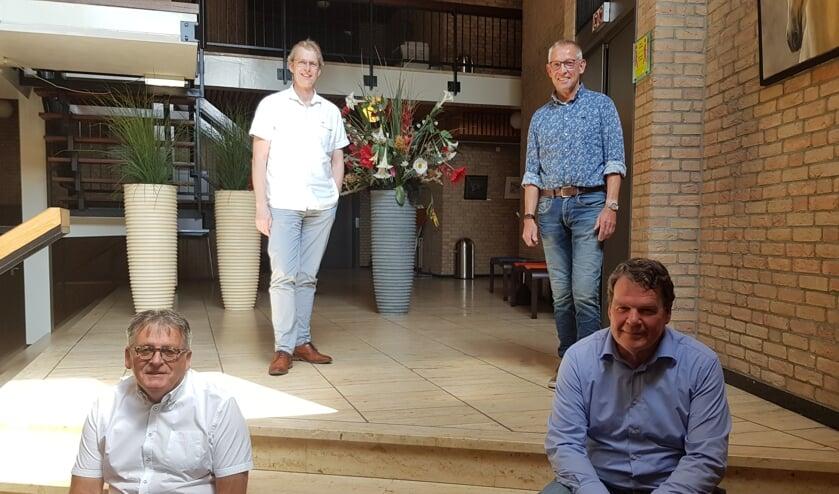 Mark van Dam (linksboven), Harrie Garritsen (linksonder), Johan Mateman (rechtsboven en René Vielvoije (rechtsonder) hebben elkaar gevonden in Boogie Woogie. Foto: Han van de Laar