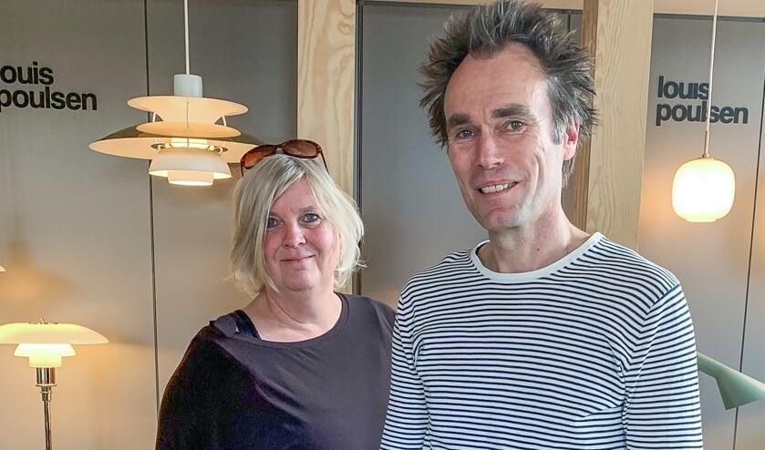 Saskia Smiet en Marcel Rosenberg in hun winkel in Vorden. Eigen foto