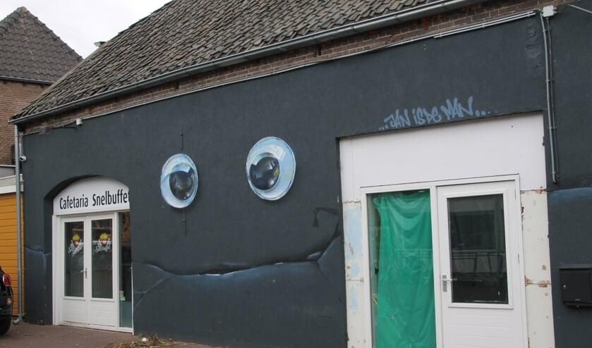 De muurschildering in de Dijkstraat.