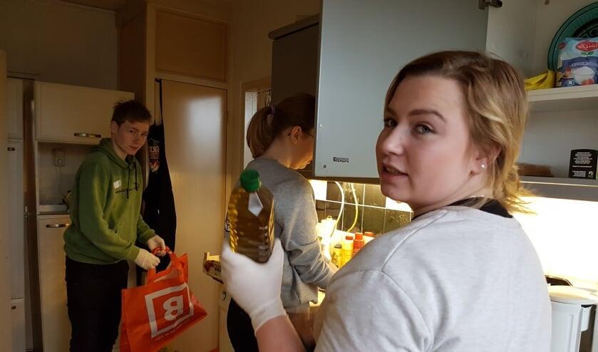 Studenten van het Graafschap College tijdens een van de projecten in 2019. Foto:  Present Winterswijk