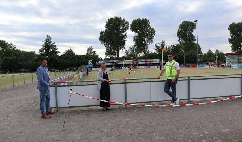 Sportwethouder Laura Werger bezocht op dinsdag 19 mei een aantal sportverenigingen in de gemeente Zutphen. Foto: PR