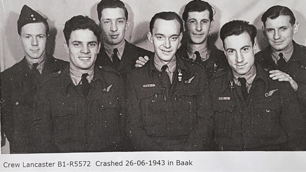 De bemanning van de Lancaster B1-R5572 die 26 juni crashte in Baak. Foto: PR  © Achterhoek Nieuws b.v.