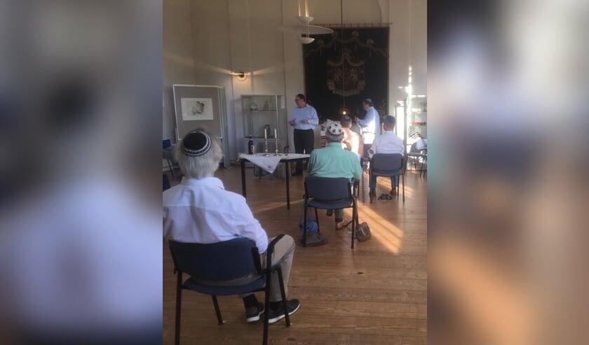 Een impressie van de sjoeldienst in de Lochemse synagoge. Foto: PR