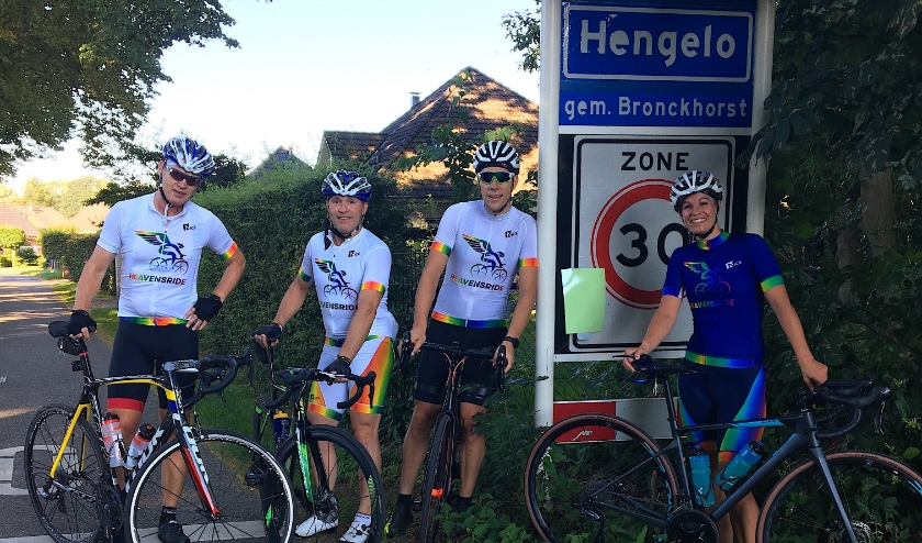 Het bestuur van Stichting Heavensride, v.l.n.r.: Voorzitter Ben Albers, Arjan Mombarg, Ferdy Klein Brinke en Mariëlle Klein Brinke. Foto: Nade Mombarg