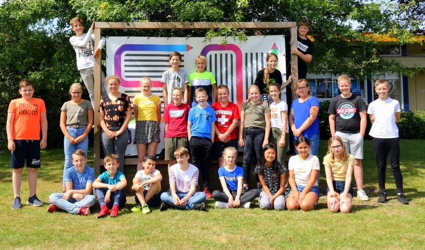 Groep 8 van School Noord. Foto: Jaime Lebbink